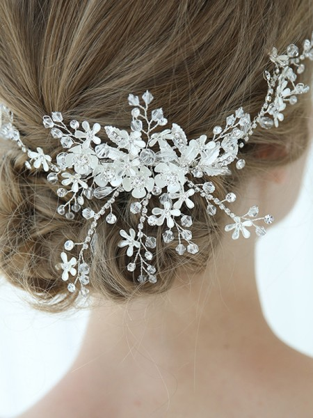 Beautiful Alloy With Flower Combs&Barrettes Headpieces