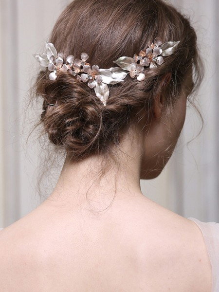 Flawless With Ceramics Alloy Combs&Barrettes Headpieces