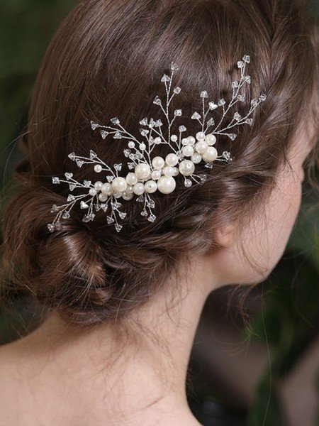 Chic Alloy With Crystal/Imitation Pearl Combs&Barrettes Headpieces