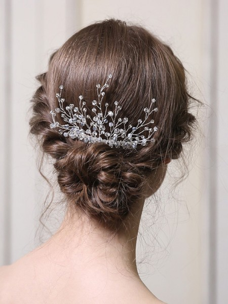Fashion With Crystal Alloy Combs&Barrettes Headpieces