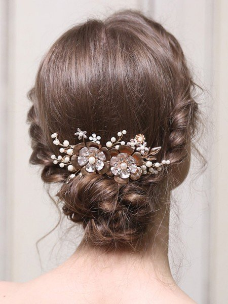 Glamorous Alloy With Pearl Combs&Barrettes Headpieces