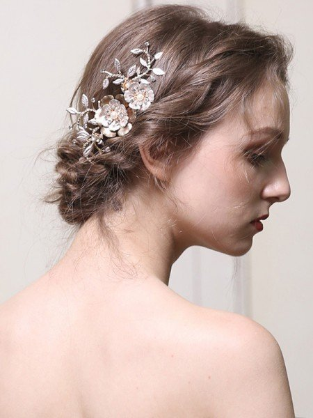 Noble With Pearl Alloy Combs&Barrettes Headpieces