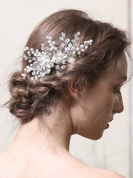 Delicate Alloy With Pearl Combs&Barrettes Headpieces