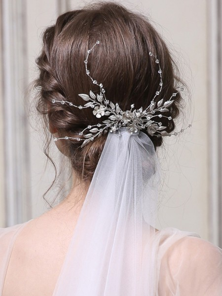 Charming With Crystal Alloy Combs&Barrettes Headpieces
