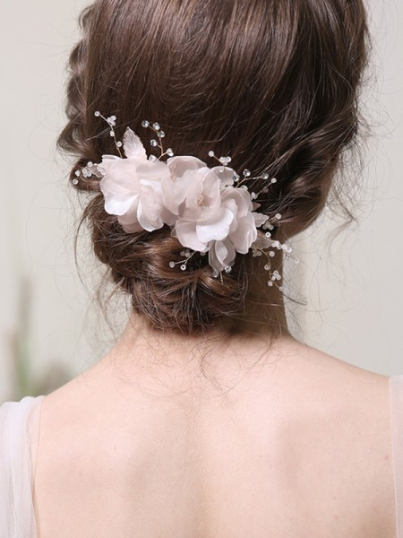 Stunning Alloy With Rhinestone Combs&Barrettes Headpieces