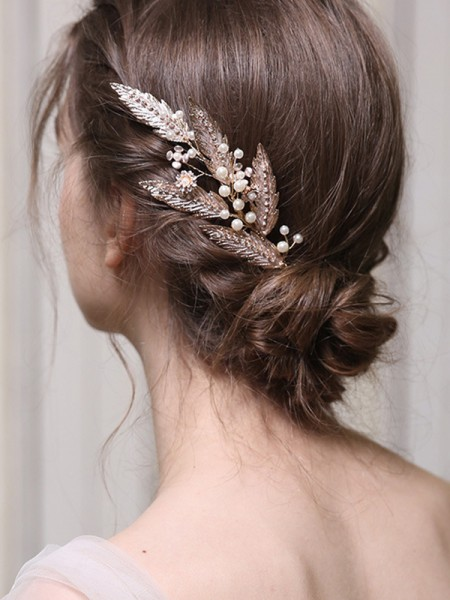 Elegant Alloy With Imitation Pearl Combs&Barrettes Headpieces
